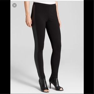 🆕 Vince Camuto Two tone Leggings w/Faux Leather